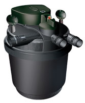 External Laguna pressurized canister filter.