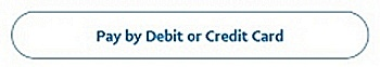 PayPal credit or debit card button